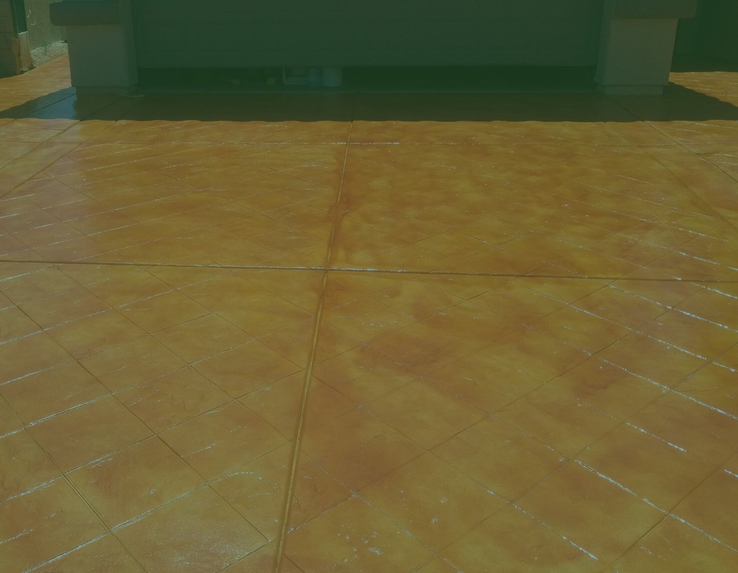 orange concrete sealing