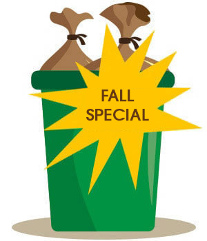 Fall special for Clean Cans LV graphic
